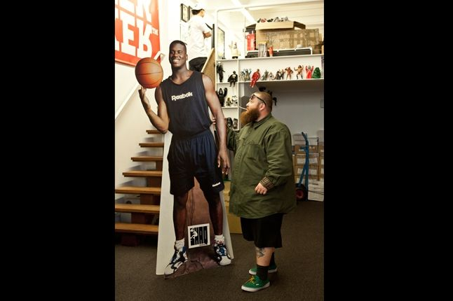 Action Bronson At Sneaker Freaker With Shaq 1