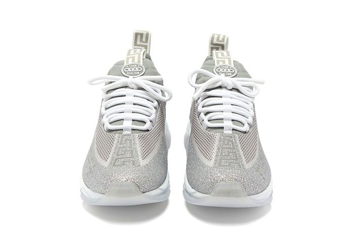 Versace Cross Chainer Glitter Trainer Front Shot
