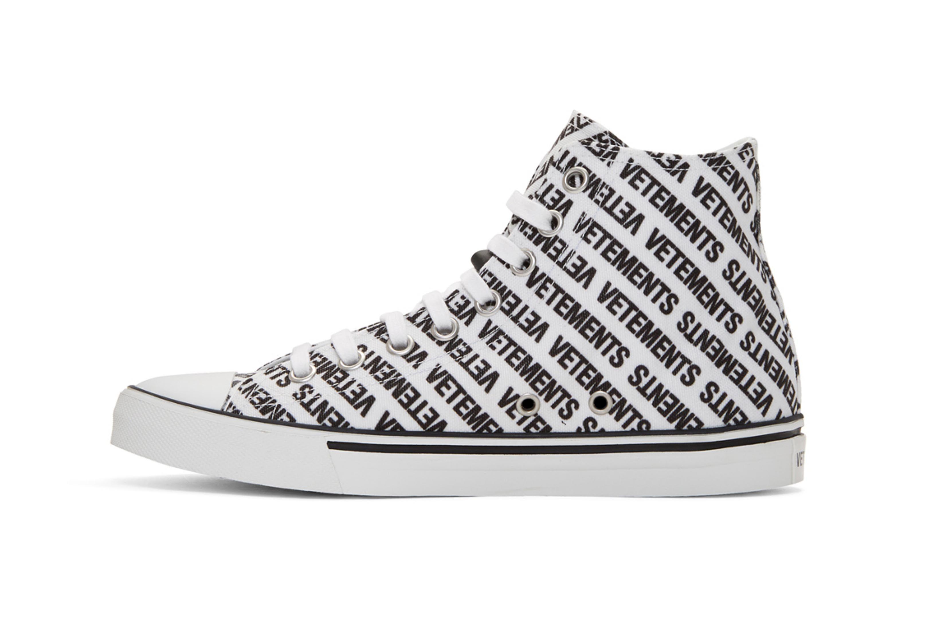 Vetements Logo High Top Sneakers Black White 3 Sneaker Freaker