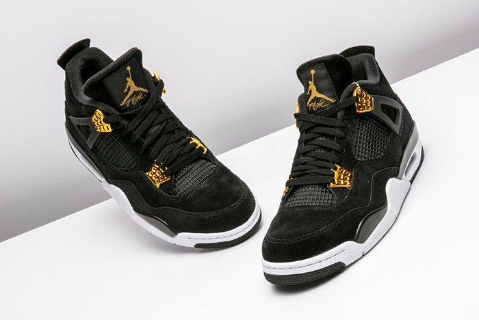 Air Jordan 4 Royalty Black Gold 4