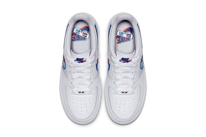 Nike Air Force 1 Low 3D Gs Release Date Top Down