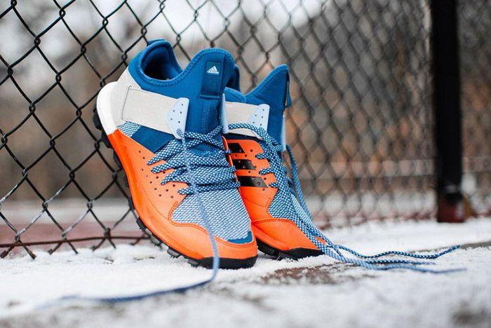 Adidas Response Trail Boost Core Blue Energy Orange 3