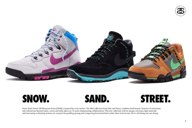 Nike X Stussy Ss Off Mountain Series Snow Sand Street 1