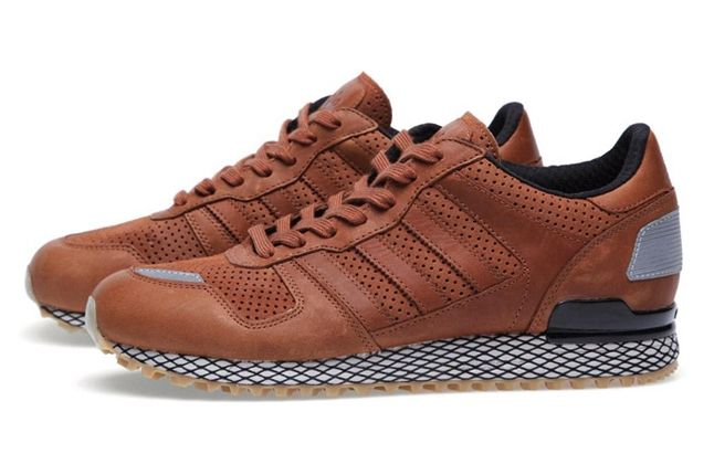 Adidas Originals Zx 700 Gum And Perf Pack Brown Profile 1