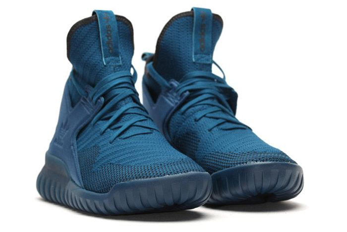 Adidas Tubular X Primeknit Tech Steel Blue 3
