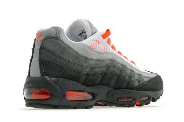 Nike Am95 Anthracite Crimson Heel Quarter