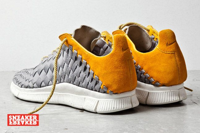 Nike Free Inneva Woven Mine Grey Laser Orange 3 1