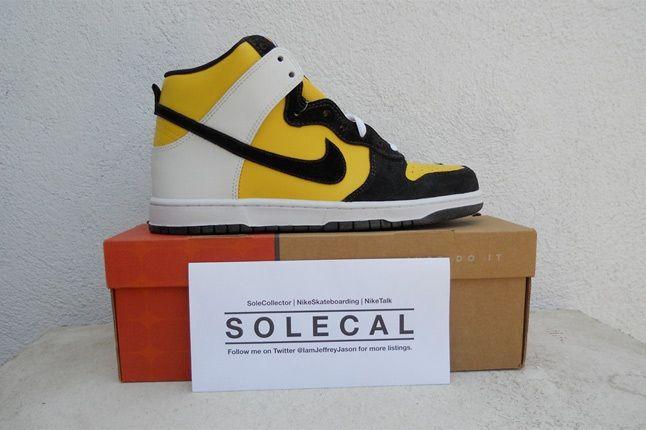 Nike Dunk Black Yellow White 1