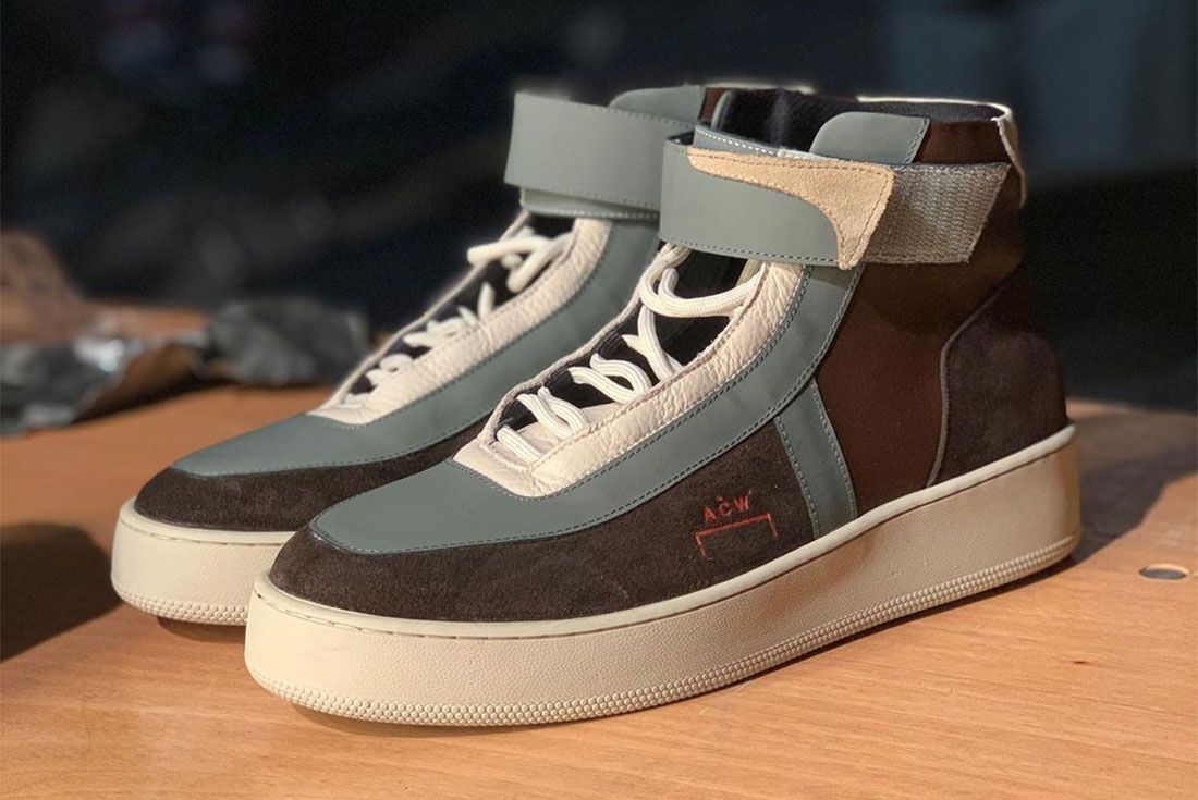 A Cold Wall Converse High Lateral Three Quarter Side Shot