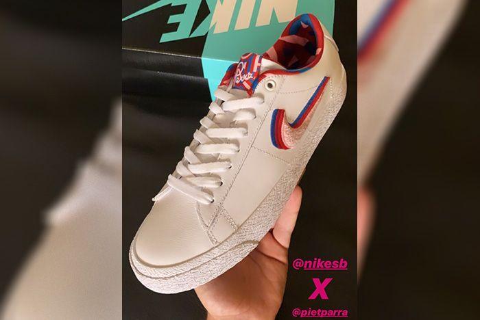 Parra X Nike Sb Blazer Low Angle Shot
