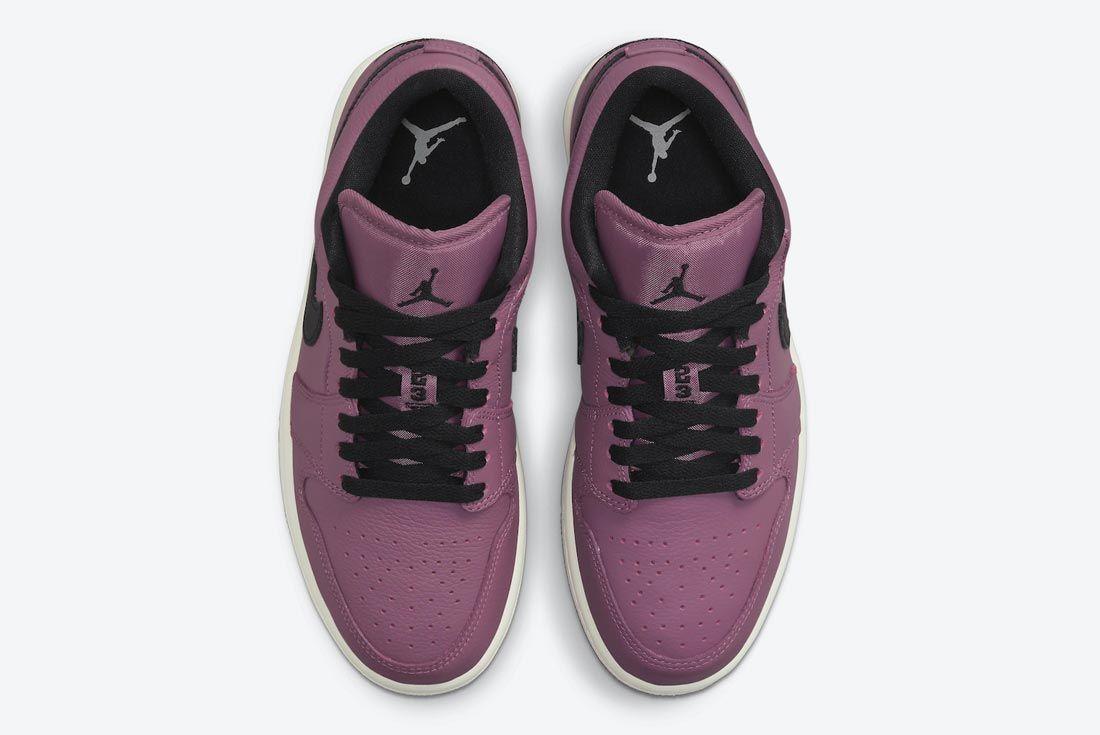 Air Jordan 1 Low Magenta/Black/Sail