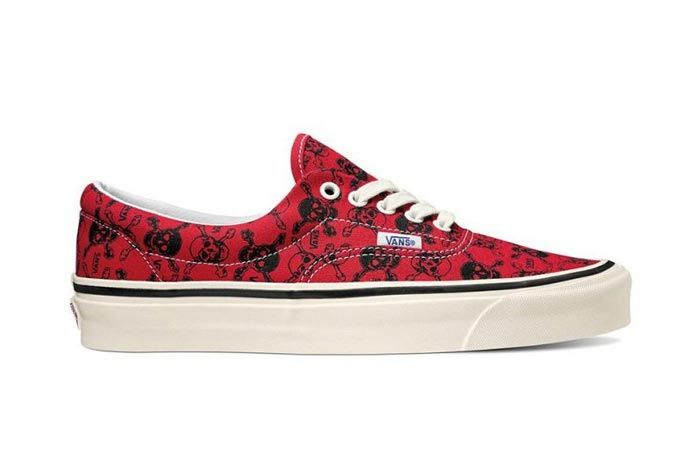 Vans Anaheim Factory Era Red Black Lateral