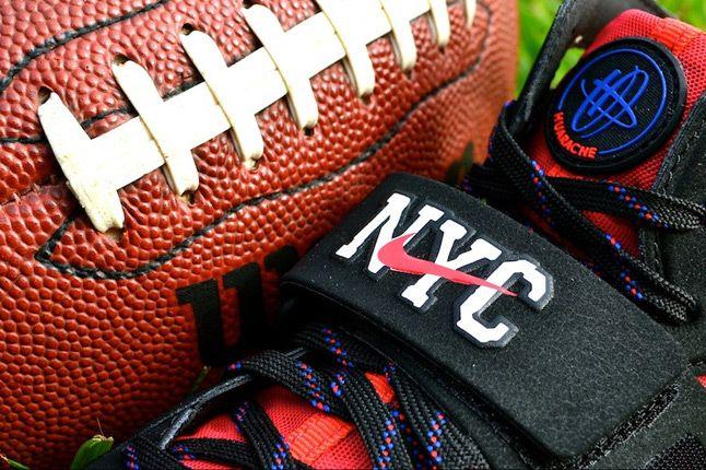 Nike Huarache Free Shield Nyc Giants Strap 1