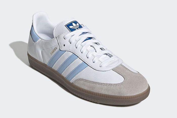 Adidas Samba Blue White Toe