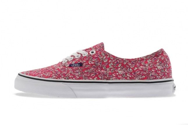 Vans Liberty Authentic Low Pink Floral Profile 1