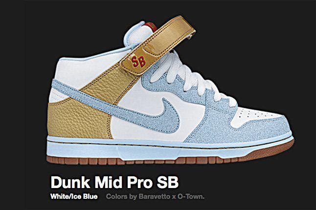 Nike Dunk Mid Pro Sb White Ice Blue 2008 1