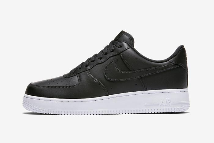 Nike Air Force 1 Low Black White Lateral