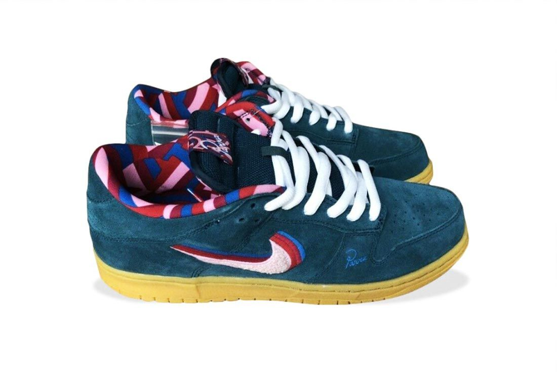 Parra Nike Sb Dunk Low Ff Lateral Side Shot