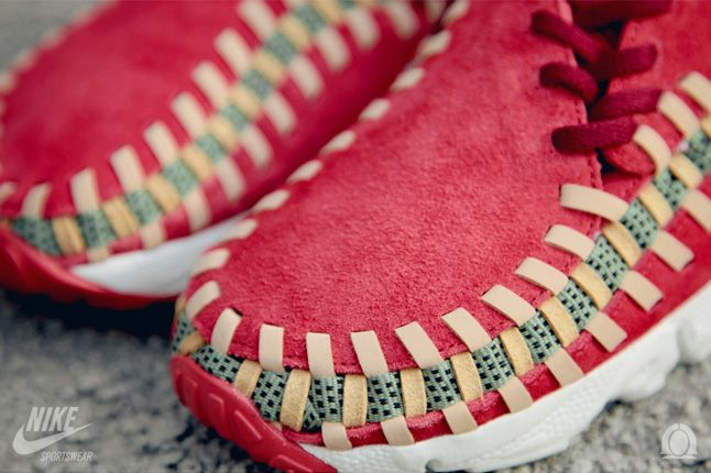 Nike Footscape Woven Chukka Knit Red Reef Toe Details 1
