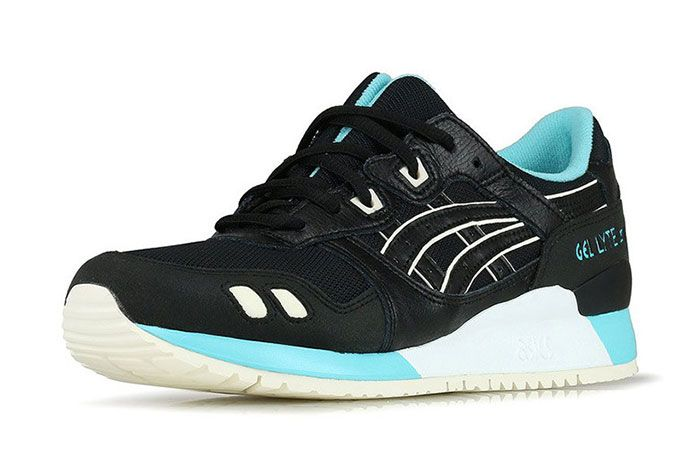 Asics Gel Lyte Iii Black Turquoise Front Angle