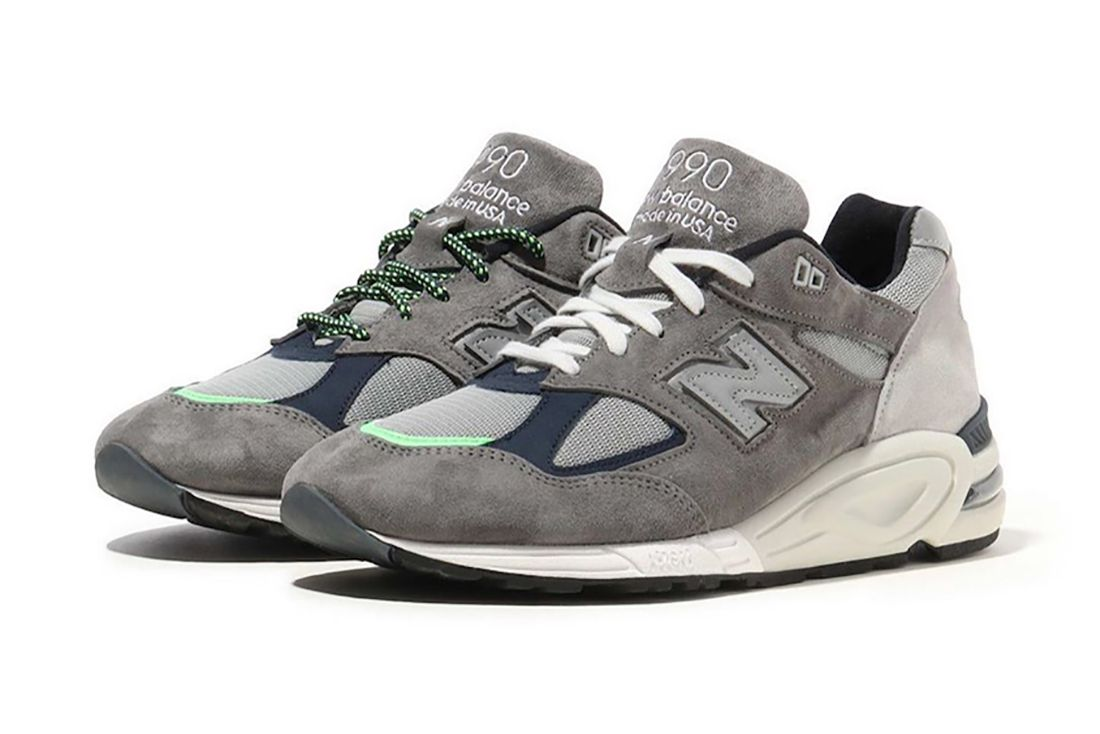 Madness New Balance 990V2 Grey Pair