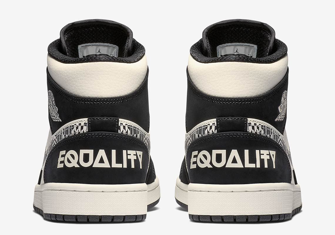 Air Jordan 1 Mid Equality 2019 852542 010 2