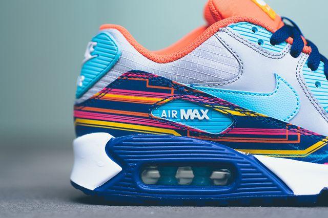 Nike Air Max 90 Prem Mesh Gs 724882 001 Sneaker Politics 6 1024X1024