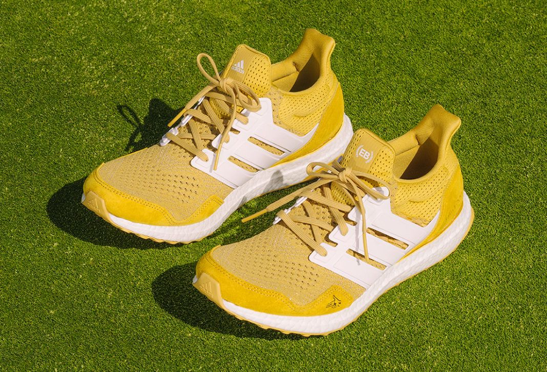 Extra Butter x Happy Gilmore x adidas UltraBOOST 'Gold Jacket' official