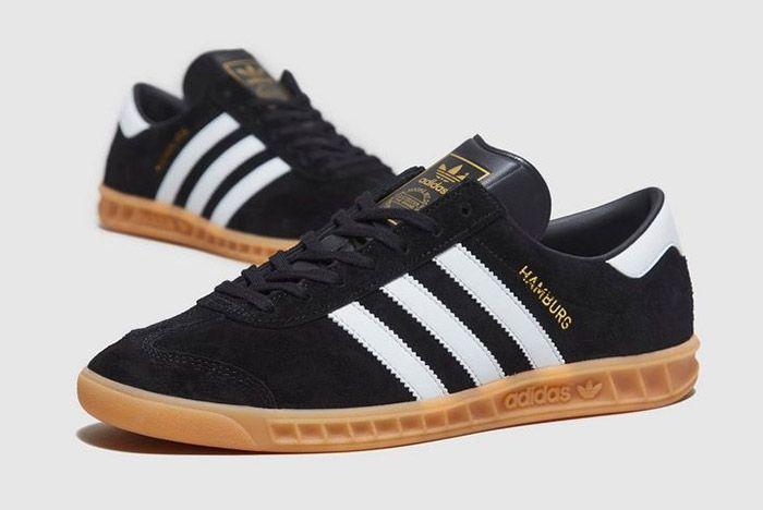Adidas Hamburg Black Suede Gum 1