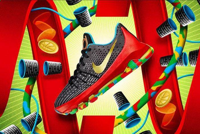 Nike Kd8 Kids Money Ball 1