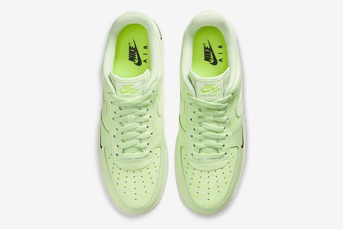 Nike Air Force 1 Low Neon Yellow Ct2541 700 Top