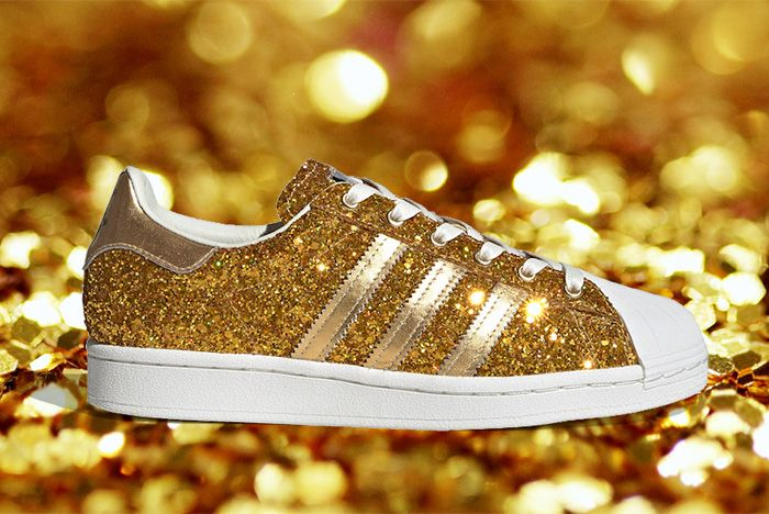 Adidas Superstar Gold Metallic Fw8168 Lateral
