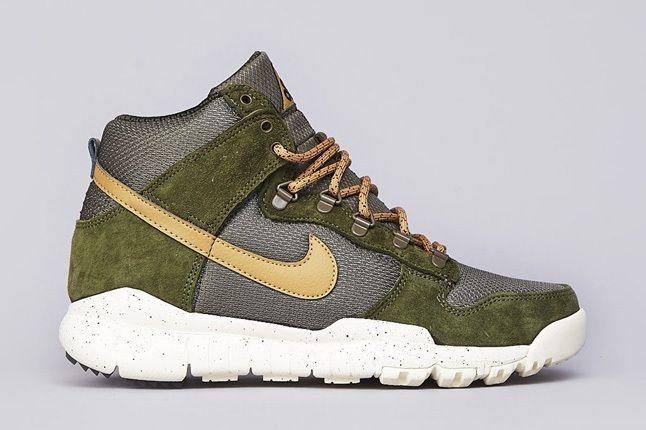 Nike Sb Dunk High Oms Light Green Gold 1