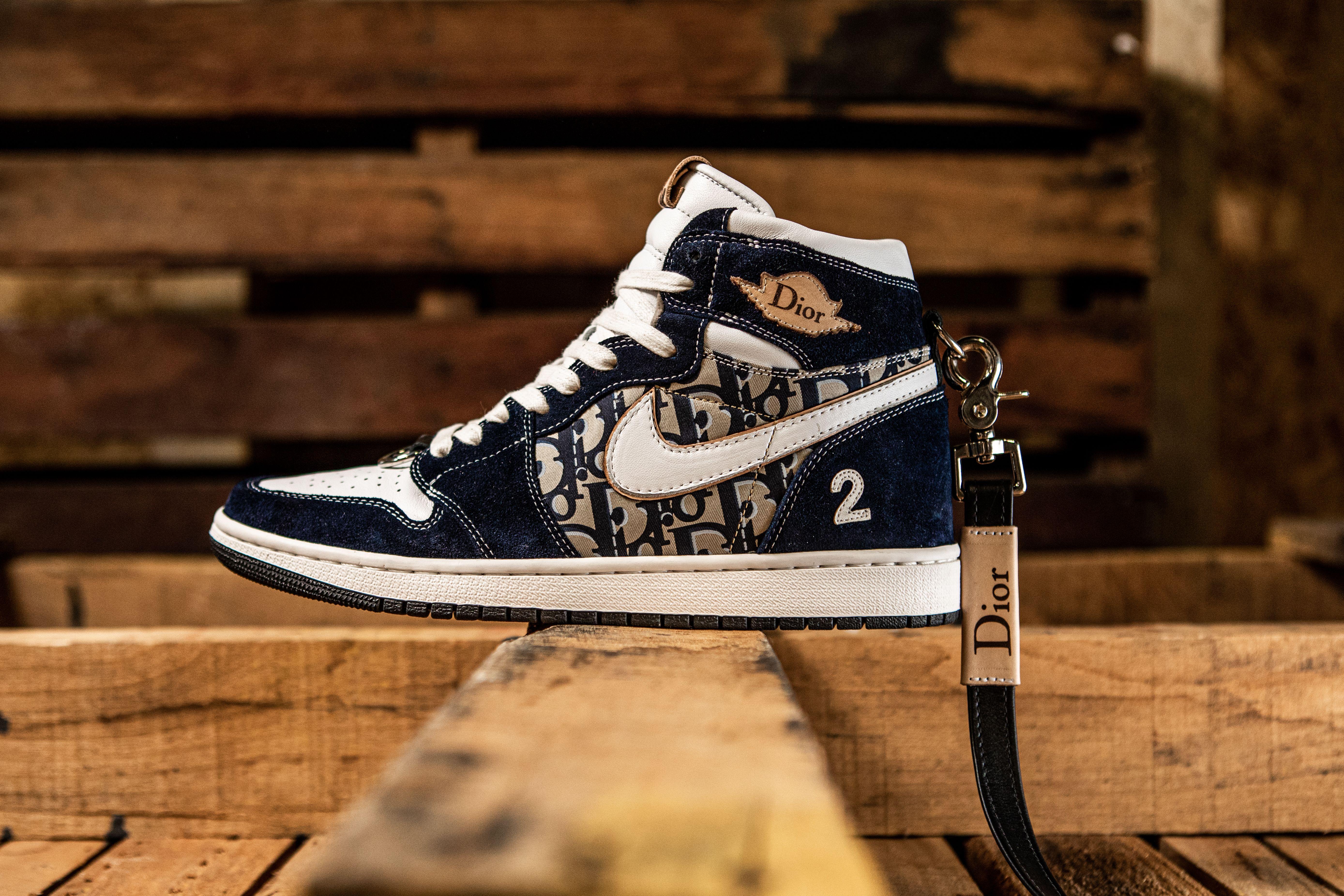 BespokeIND Nike Air Jordan 1 SB Dunk Dior Left