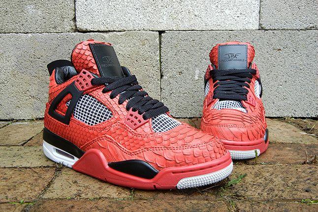 Jbf Customs Jordan Iv Fire Red Python 3 1