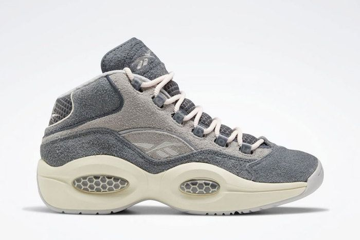 Reebok Question Mid Grey Suede 1