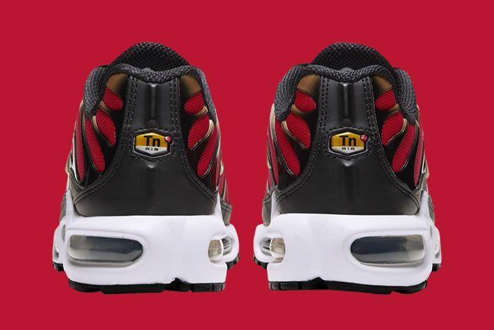 Nike Air Max Plus University Red Metallic Gold Cu4919 600 Heel