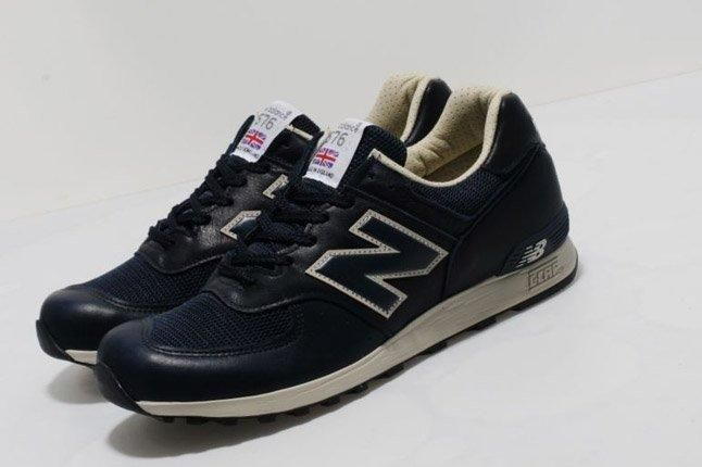New Balance 576 Premium Leather Navy 1