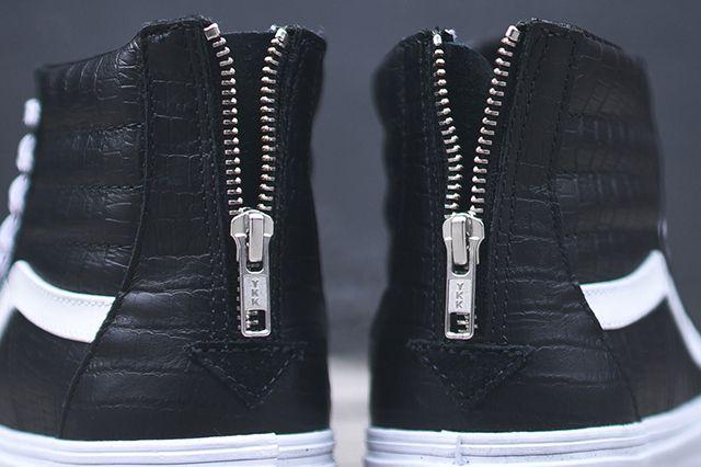 Vans Sk8 Hi Zip Ca Black Croc 3
