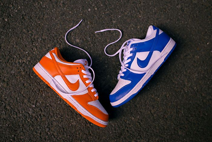 Nike Dunk Low Kentucky Syracuse Up Close Hero Shot Laced Sneaker Freaker8