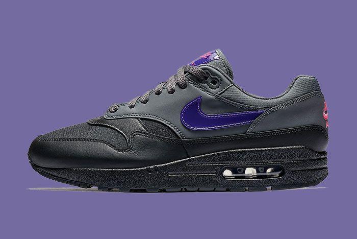 Nike Air Max 1 Black Purple 1