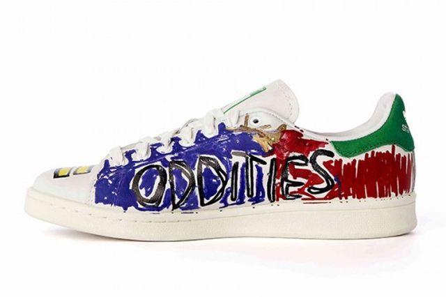 Pharrell Williams Hand Painted Adidas Originals Stan Smith 3