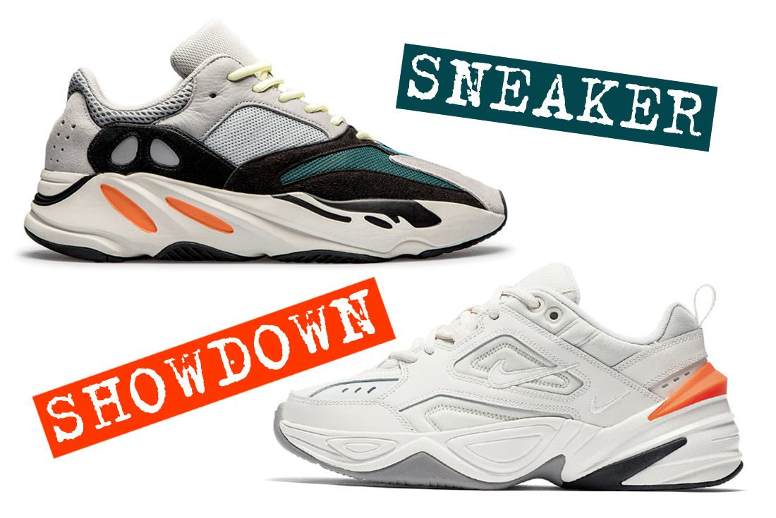 Sneaker Showdown Adidas Yeezy 700 Vs  Nike M2K Tekno