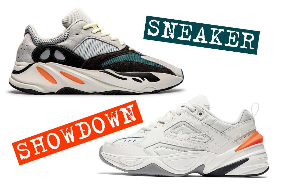 Sneaker Showdown Adidas Yeezy 700 Vs  Nike M2K Tekno