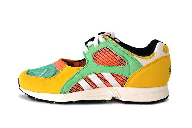 Adidas Eqt Racing Yellow Green Peach 2