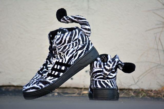 Adidas Originals Js Zebra Standing