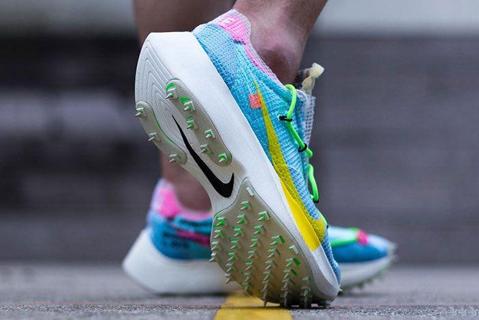 Off White Nike Vapor Street Blue On Foot Angle Shot