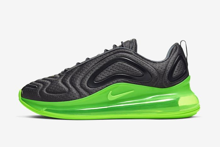 Nike Air Max 720 Black Volt Lateral