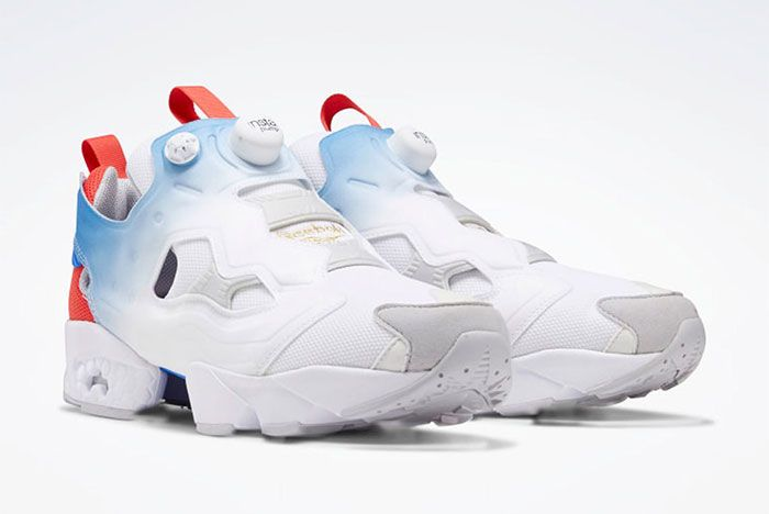 Reebok Instapump Fury Blue Red Toe