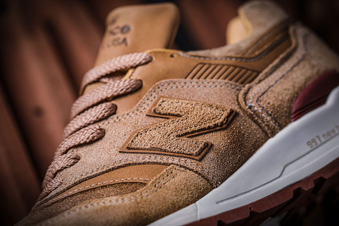 Red Wings Shoes New Balance 997 Sneaker Freaker 2 Up Close